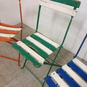 5 chaises de guinguettes