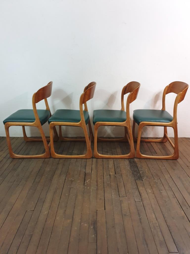 5 chaises traineau baumann