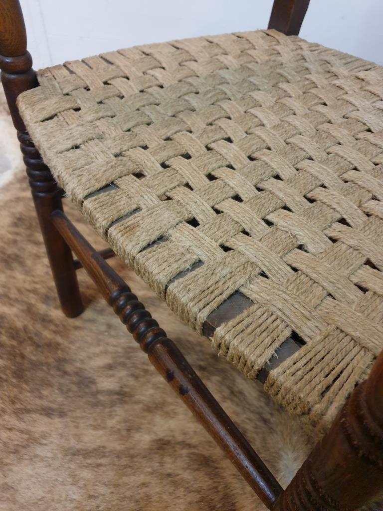 5 fauteuil bois corde