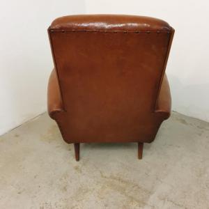 5 fauteuils cuir