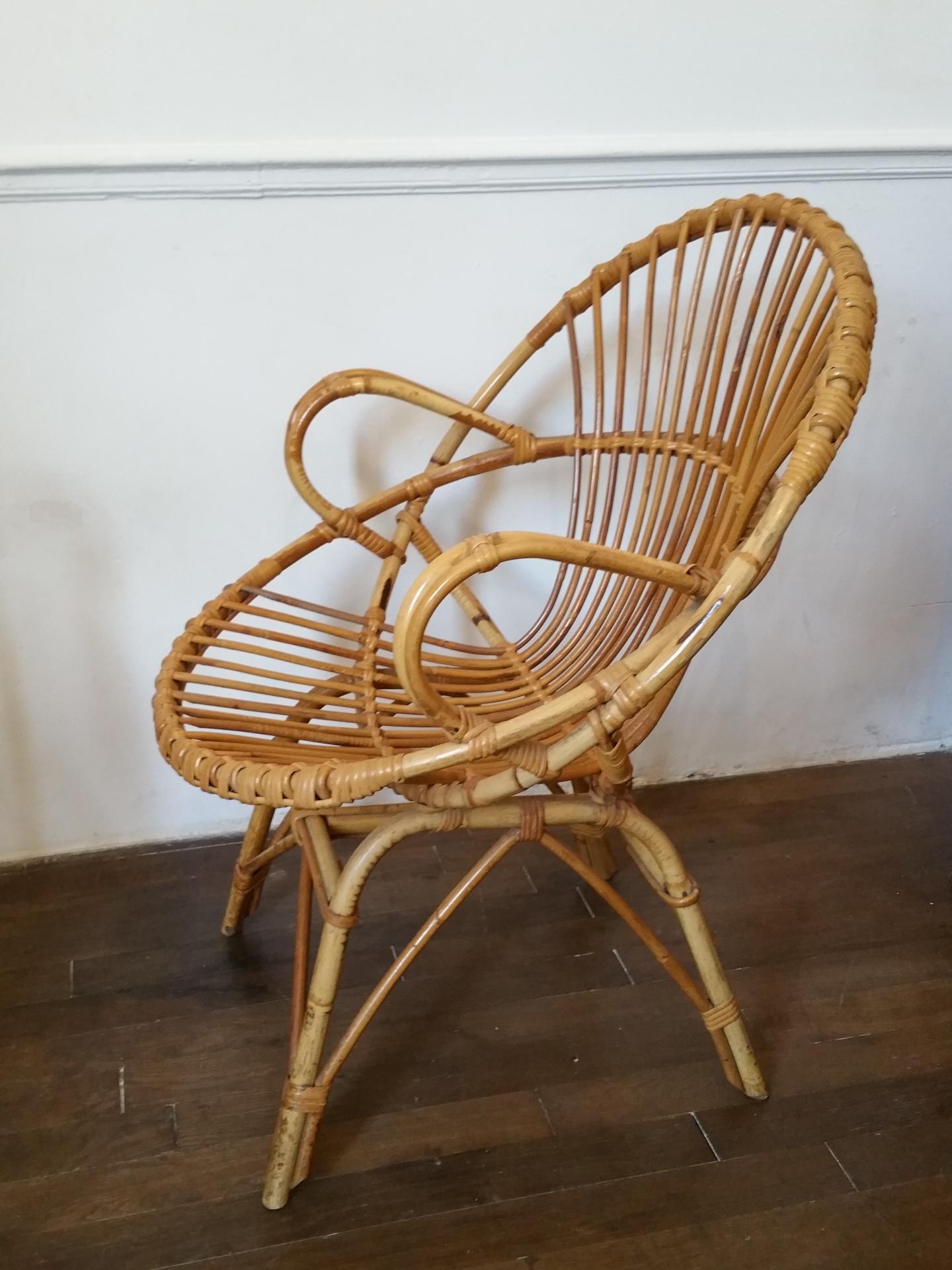 fauteuils en rotin fauteuil vintage fauteuil en osier. Black Bedroom Furniture Sets. Home Design Ideas