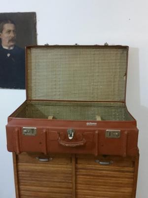 5 grande malle valise marron