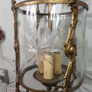 5 lustre en bronze