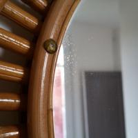 5 miroir rotin forme libre