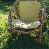 5 paire de fauteuils osier