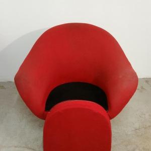 5 paire de fauteuils rouges