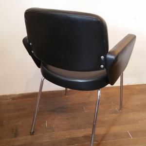 5 paire de fauteuils skai noir