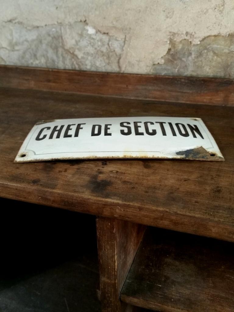 5 plaque chef de section