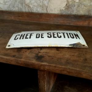 5 plaque chef de section