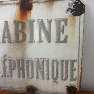 5 plaque emaillee cabine telephonique 1