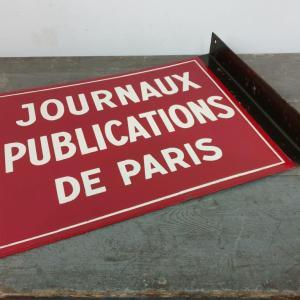 5 plaque emaillee journaux publications de paris