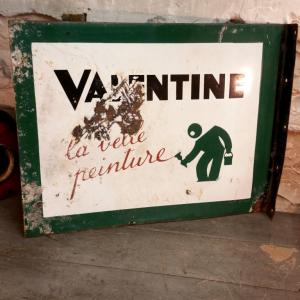 5 plaque emaillee valentine