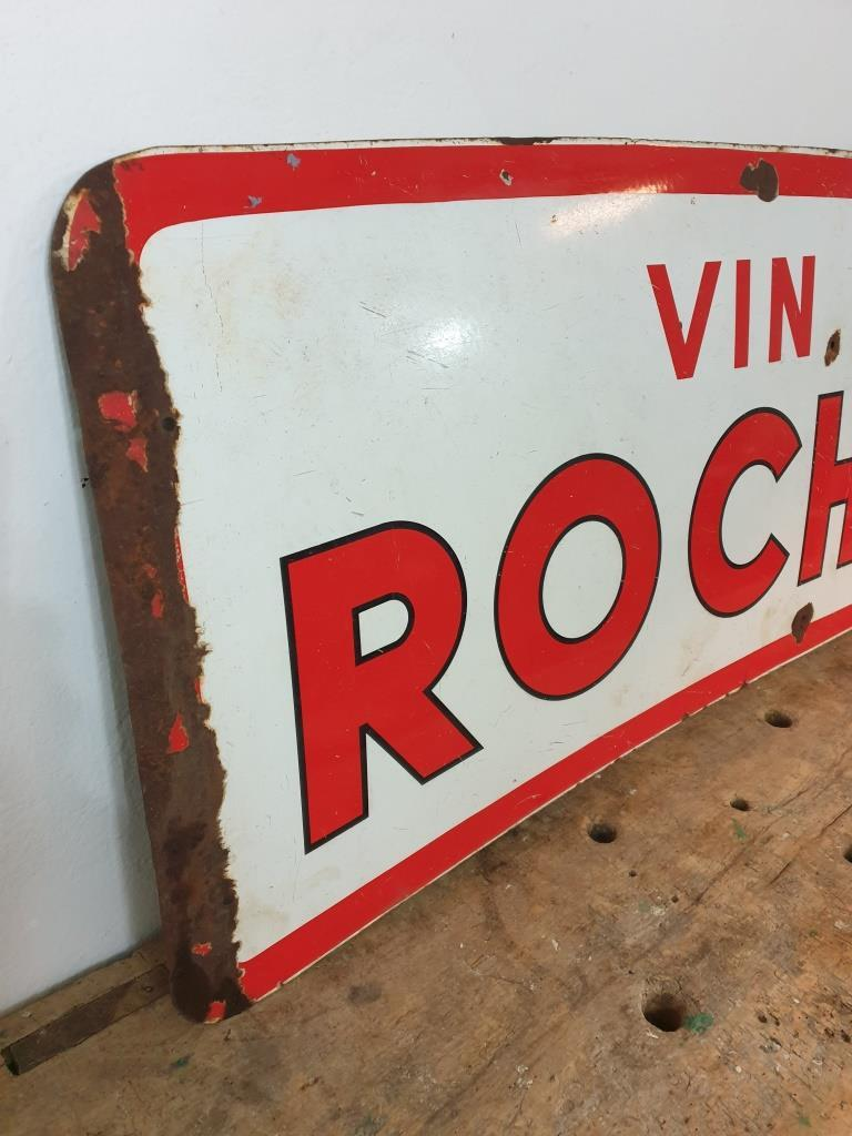 5 plaque emaillee vin des rochers