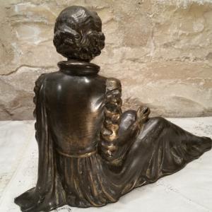 5 statue femme art deco