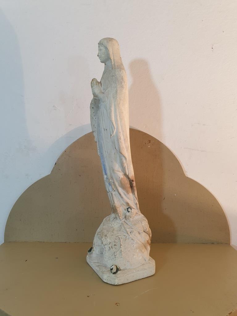 5 statue vierge marie blanche
