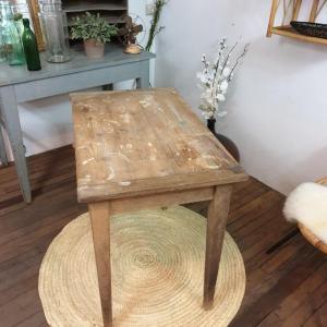 5 table d appoint bois naturel brut