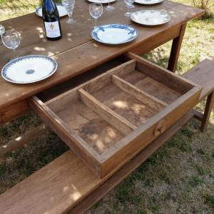 5 table de ferme avec bancs