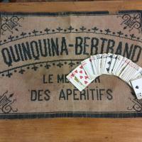 5 tapis de cartes quinquina bertrand