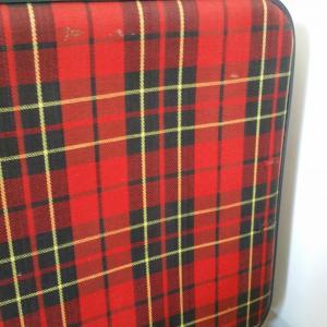 5 valise tissu ecossais