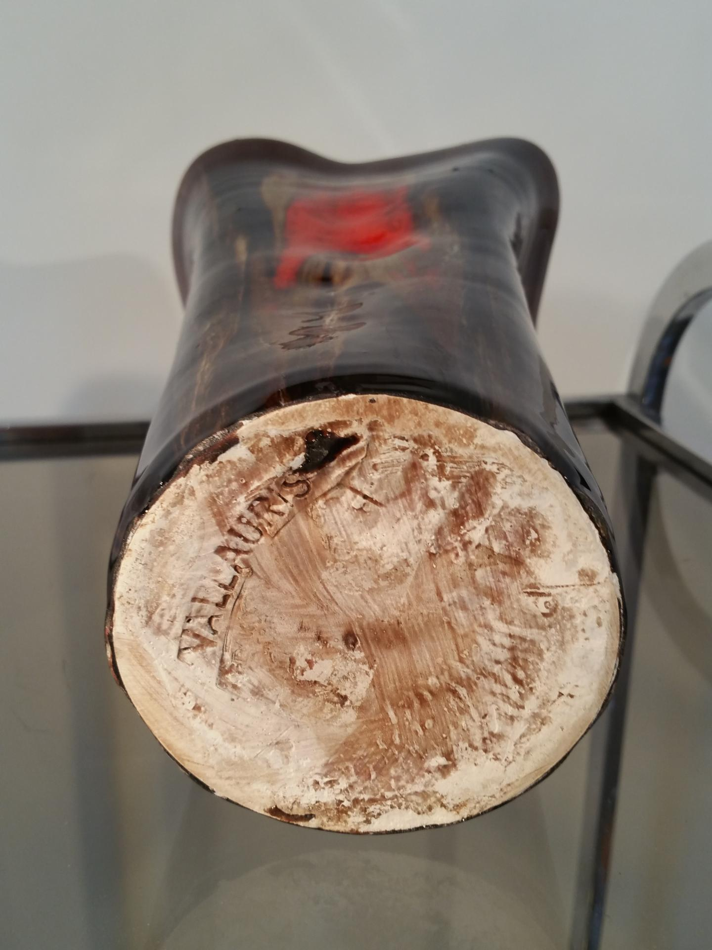 5 vase vallauris marron rouge