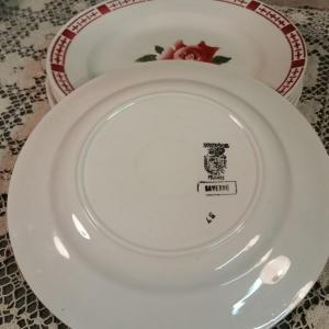 6 6 assiettes plates saverne chocs