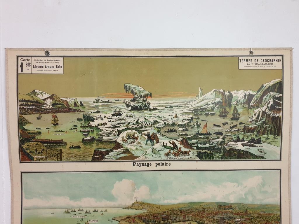 6 affiche d ecole armand colin les region