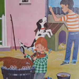 6 affiche un dimanche en famille animaux de la famille