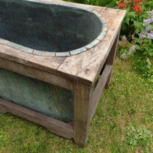 6 baignoire cuivre et bois