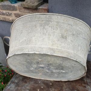 6 bassine oval en zinc