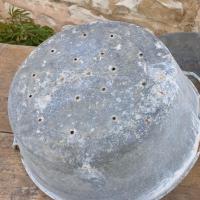 6 bassines en zinc