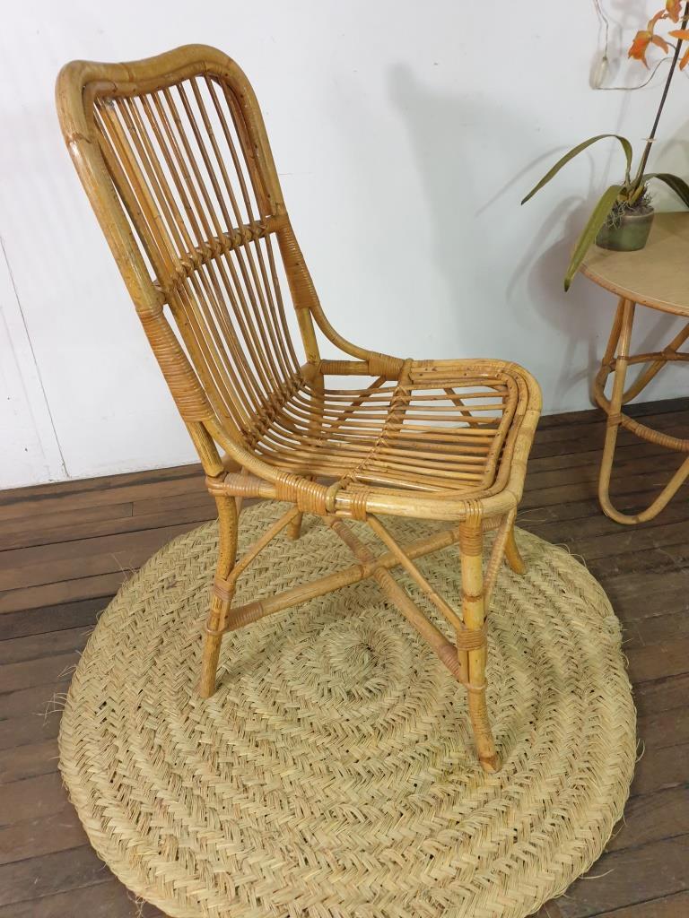 6 chaise en rotin