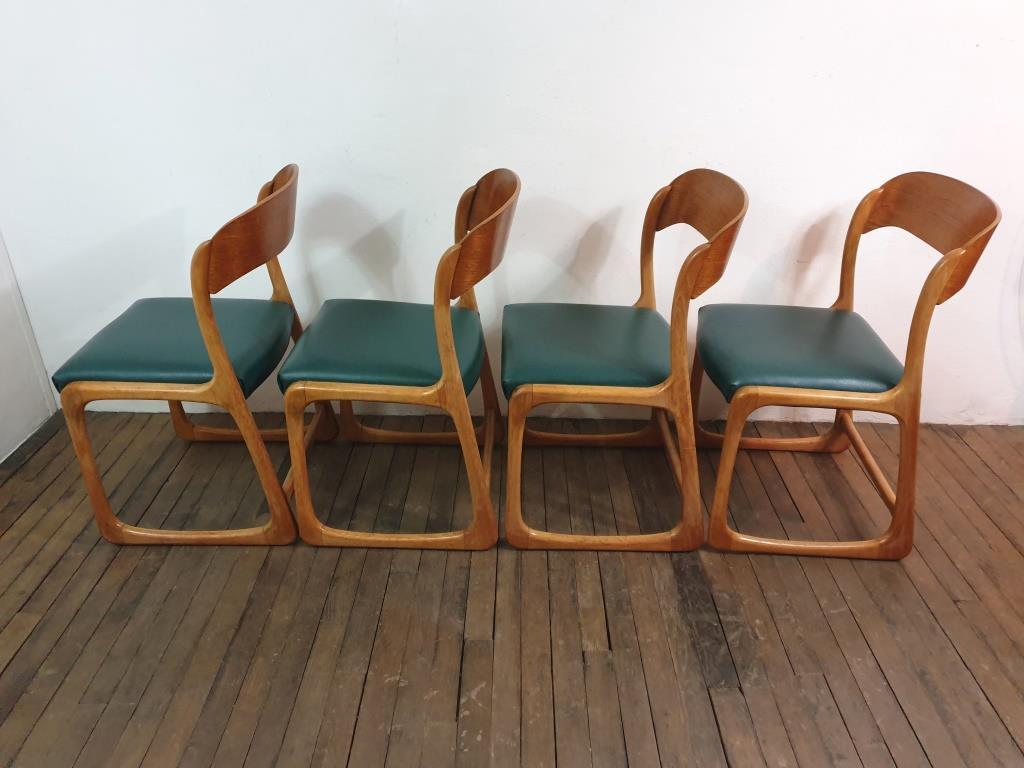 6 chaises traineau baumann