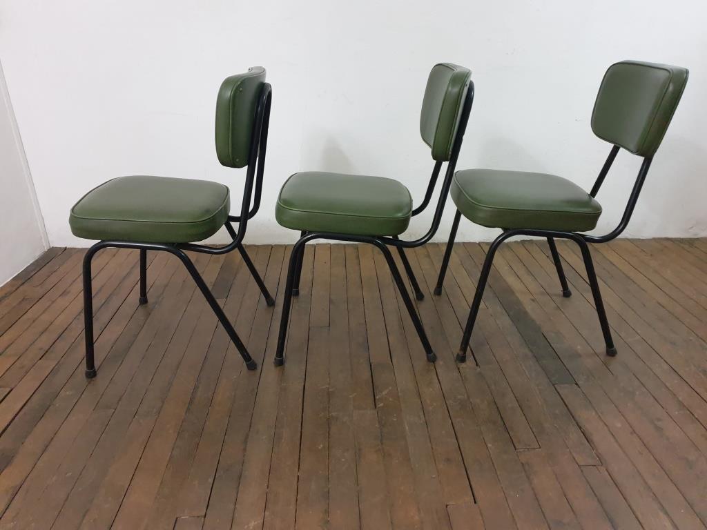 6 chaises vertes vintage