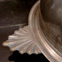 6 cloche en metal argente
