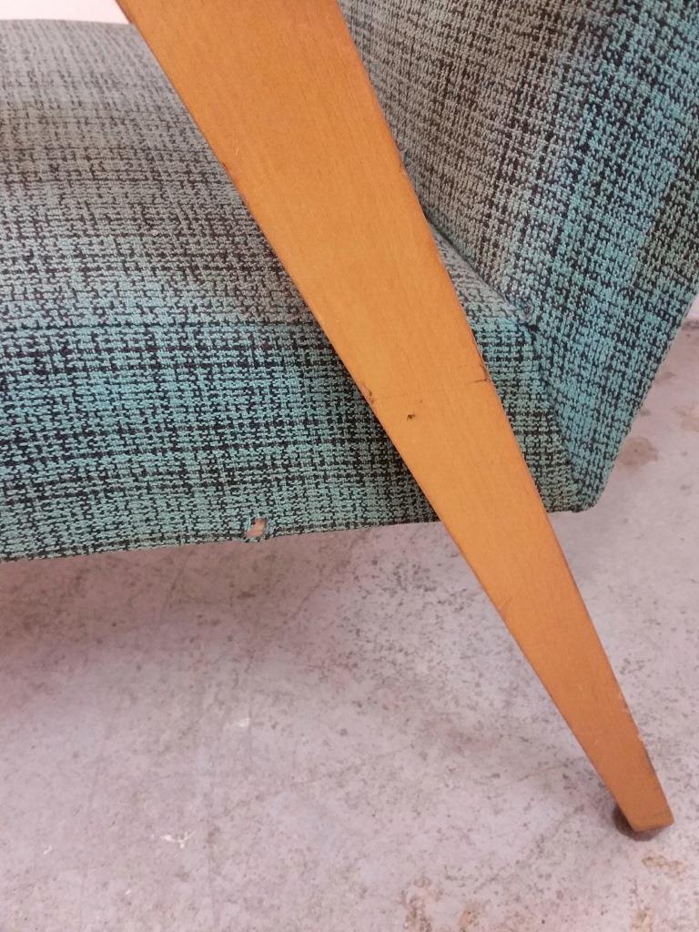 6 fauteuil scandinave vert