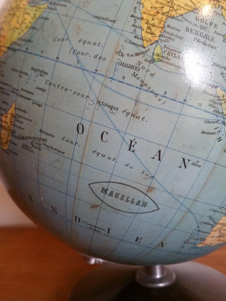 6 globe terrestre lumineux magelan