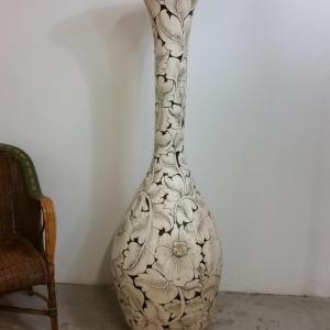6 grand vase en osier decor floral