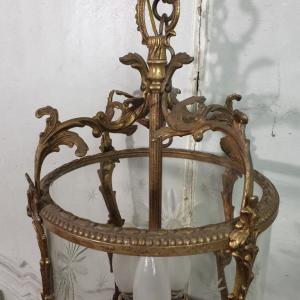 6 lustre en bronze