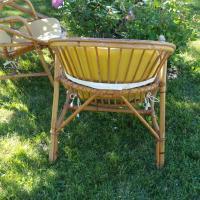 6 paire de fauteuils osier