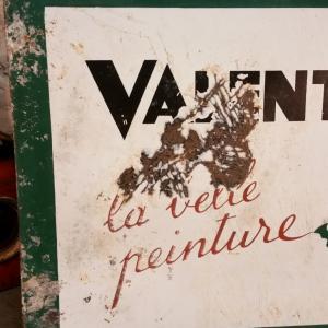 6 plaque emaillee valentine