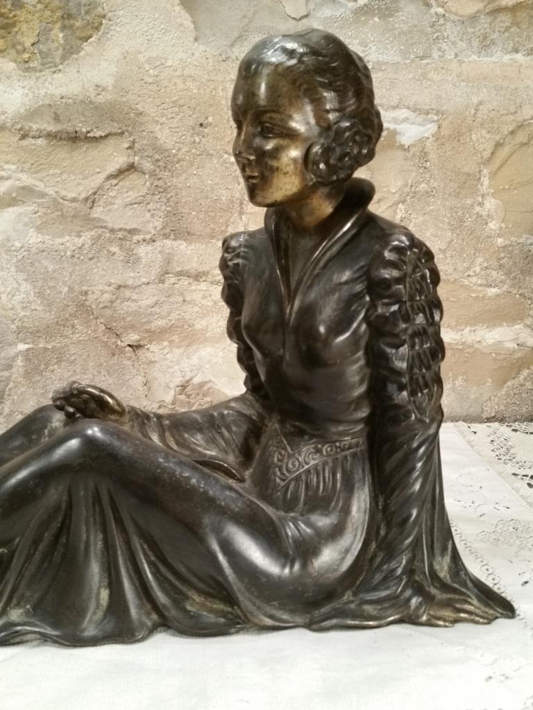 6 statue femme art deco