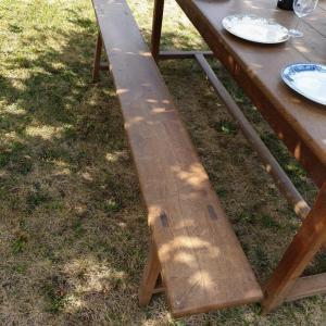 6 table de ferme avec bancs