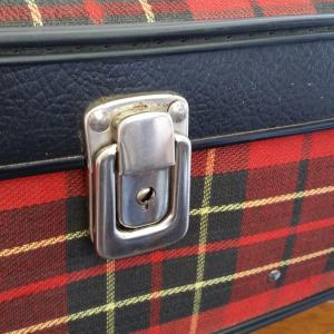 6 valise tissu ecossais