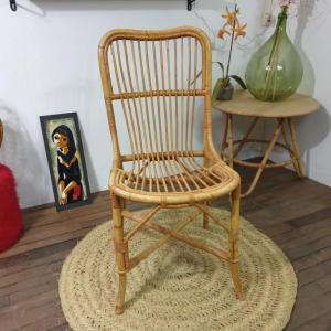 7 chaise en rotin