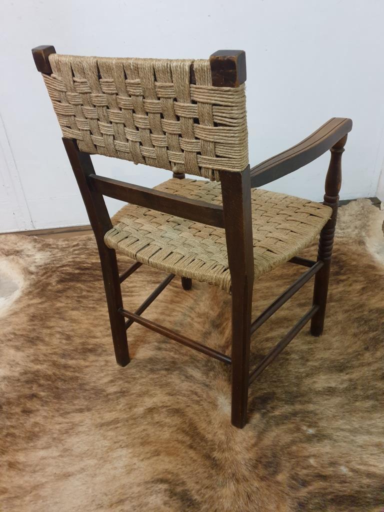 7 fauteuil bois corde