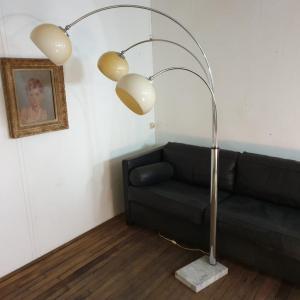 7 lampadaire arc muguet chrome 70 s