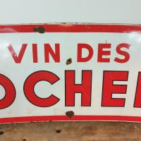 7 plaque emaillee vin des rochers