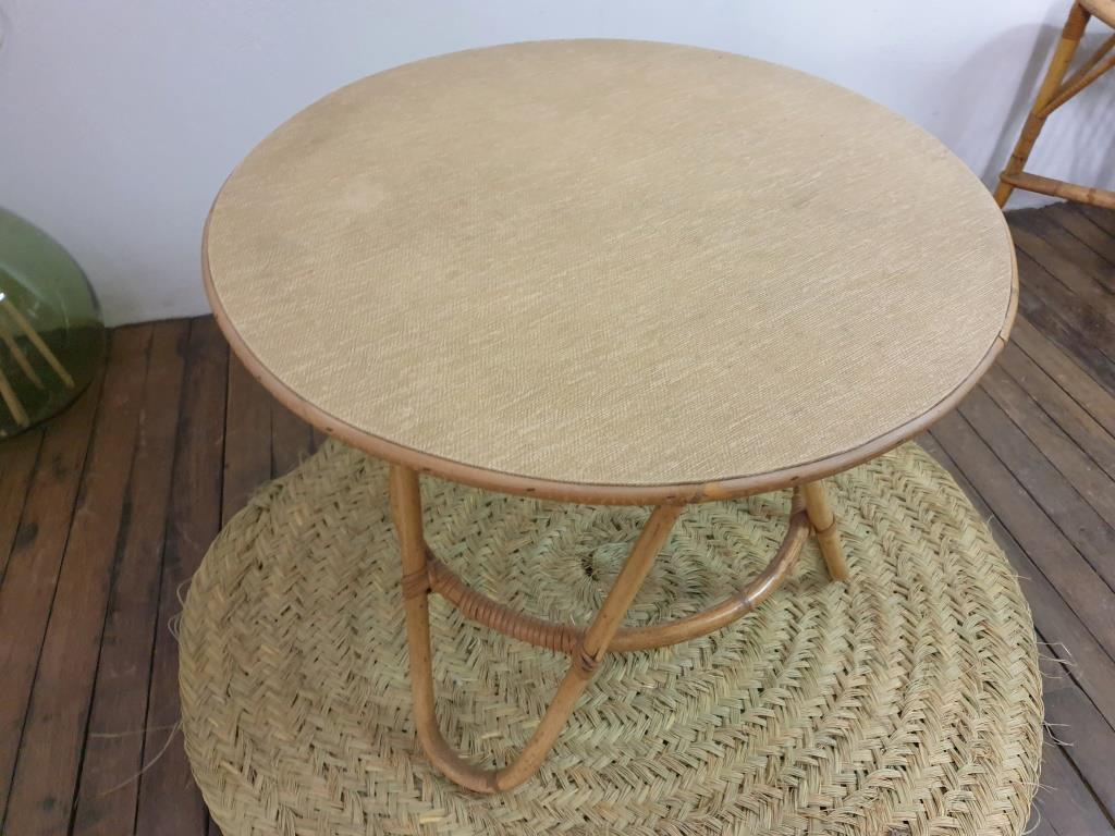 7 table basse en bambou