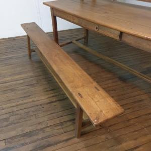 7 table de ferme avec 2 bancs