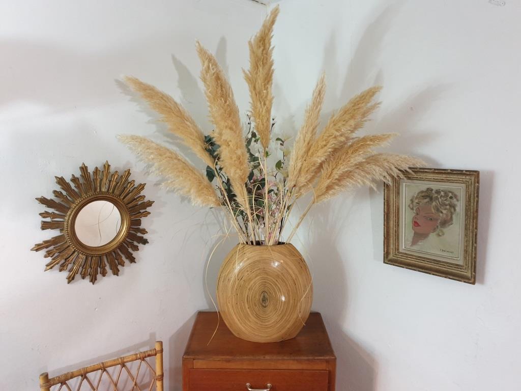 7 vase en bambou